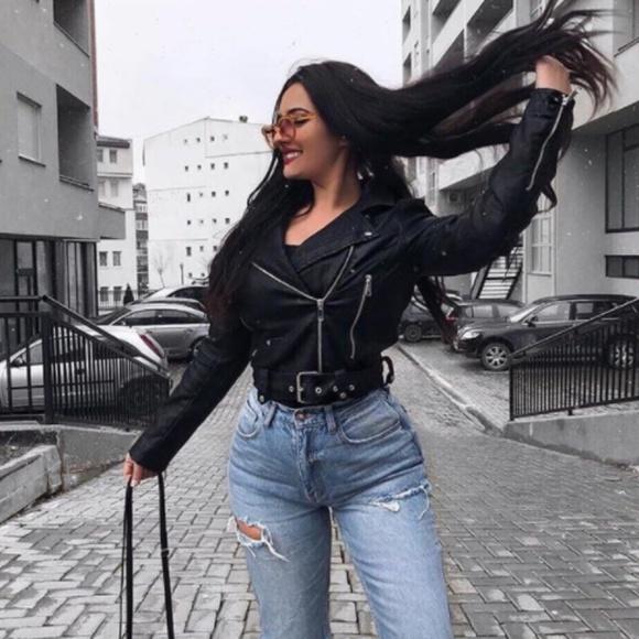 46fb1272edbe Fashion Nova Jackets & Blazers - Faux leather jacket Fashion Nova
